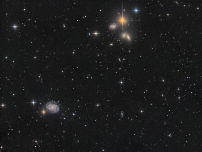 Hickson 68 (NGC 5353, 5354, 5350, 5355, 5358) and NGC 5371, Krefeld, 2019