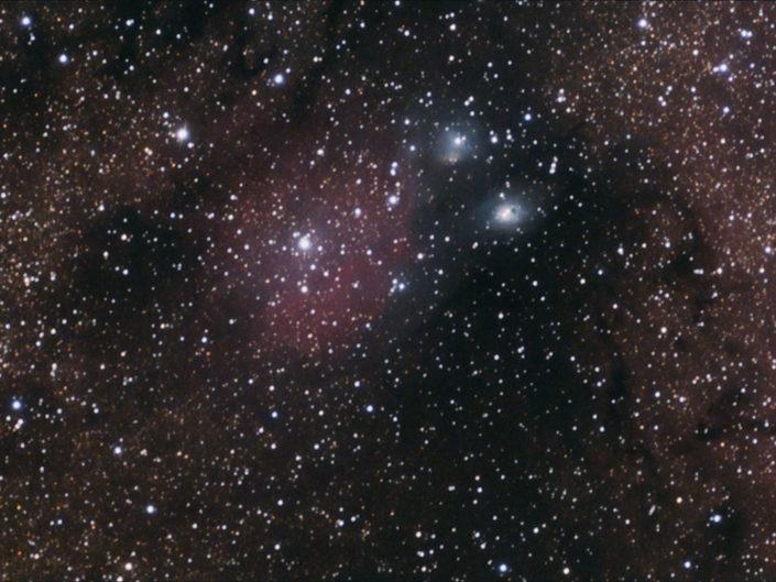 IC1283, IC 1284 (Emission Nebulae) and NGC 6589, NGC 6590 (Reflection Nebulae), Namibia, Tivoli, 2008