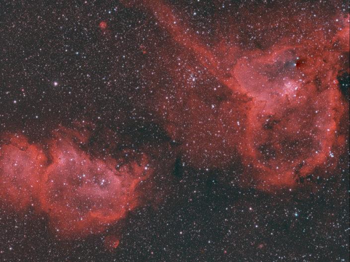 IC 1805 and IC 1848 - Heart- and Soul Nebula (Herz- und Seelennebel), France, Banon, 2014