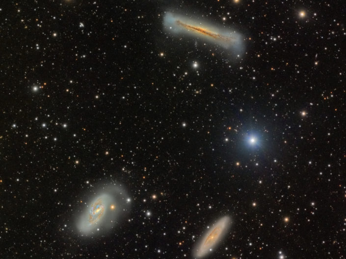 M65, M66 and NGC 3628 - Leo triplet (DSW), New Mexico, 2019