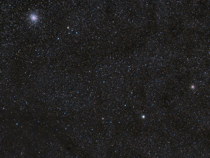 Messier 22 and 28, France, Banon, 2011