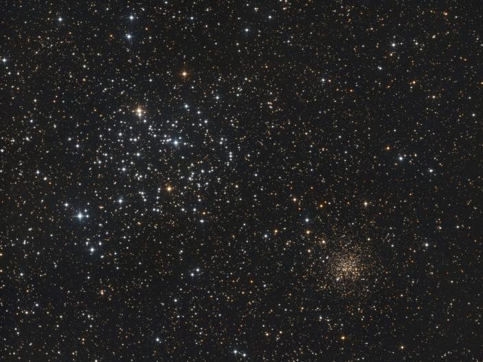 Messier 35 and NGC 2158, Krefeld, 2015