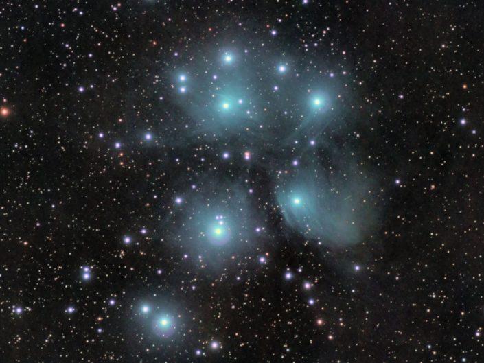 Messier 45 - Pleiades (Plejaden), Krefeld, 2010