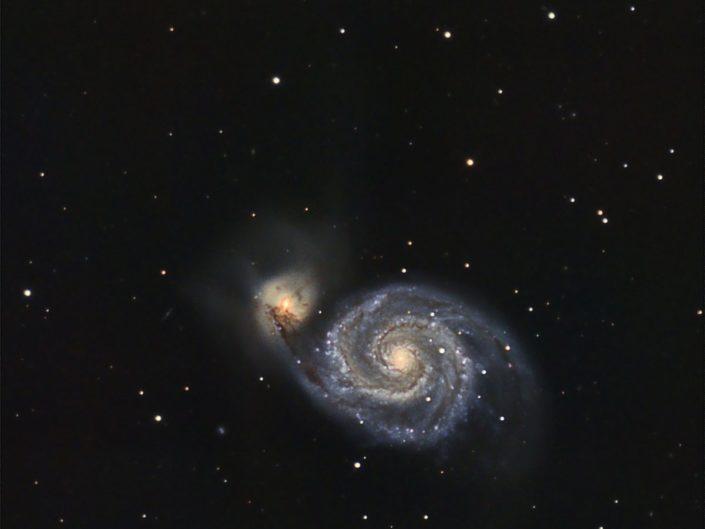 Messier 51 - Whirlpool Galaxy (Strudelgalaxie), Krefeld, 2011