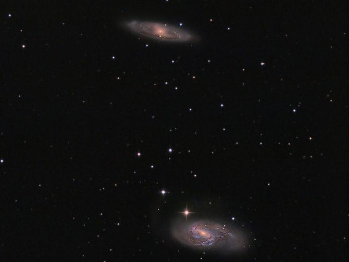 Messier 65 and M66, Krefeld, 2012