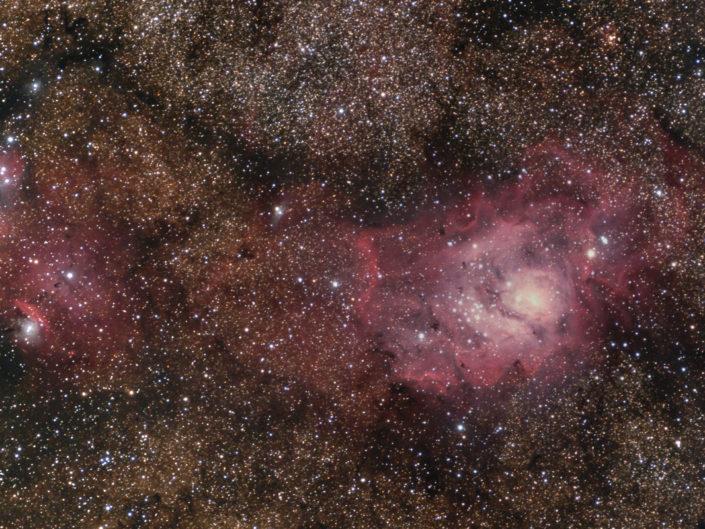 Messier 8 - Lagoon Nebula (Lagunennebel), Namibia, Tivoli, 2008