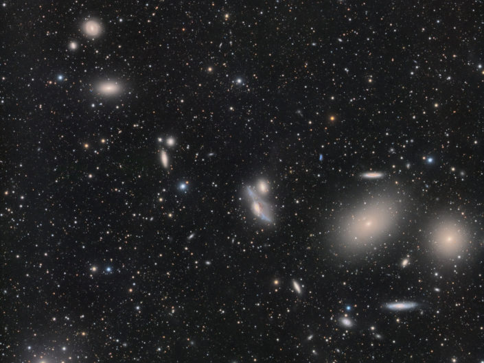 Messier 86 and Markarian's Chain, (DSW), New Mexico, 2018