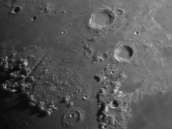 Moon (Aristoteles, Eudoxus, Cassini, Alpine valley), Krefeld, 2009-05-31