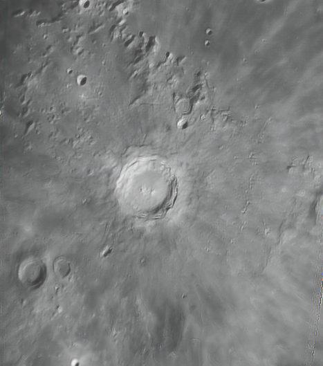 Moon (Copernicus, Reinhold, Pytheas), Krefeld, 2009-02-05
