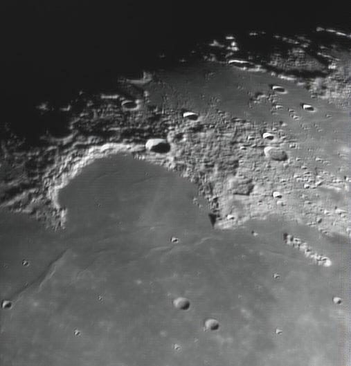 Moon (Sinus Iridium, Bianchini, Helicon, Le Verrier), Krefeld, 2009-02-05