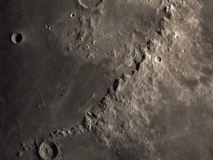 Moon (Archimedes, Aristillus, Timocharis, Erasthostenes), Krefeld, 2018-02-24