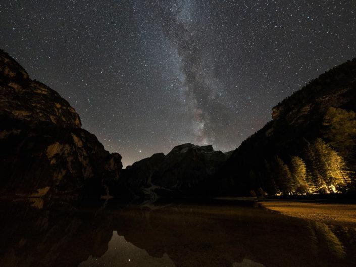 Milky Way over Lago di Praio (Milchstraße über dem Pragser Wildsee), 2018