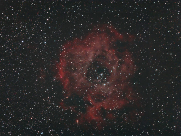 NGC 2244 - Rosette nelua (Rosettennebel), Krefeld 2007