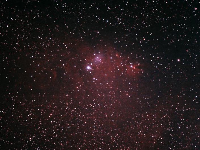 NGC 2264 - Cone nebula and Christmastree Cluster (Konusnebel und Weihnachtsbaum-Sternhaufen), Krefeld, 2007
