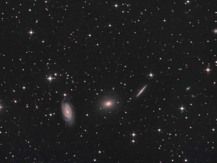 NGC 5976, 5982 and 5985 - Draco Triplet, France, Banon, 2012