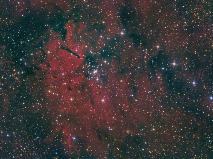 NGC 6823 (OC) and NGC 6820 (Emission Nebula), Krefeld, 2015