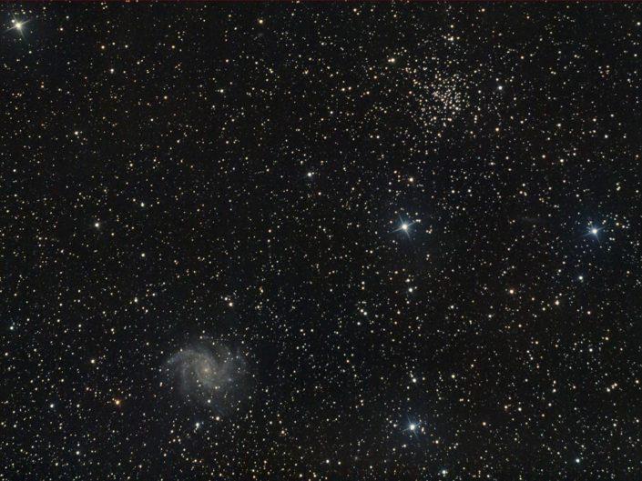 NGC 6939 (OC) and NGC 6946 (Galaxy), France, Banon, 2010