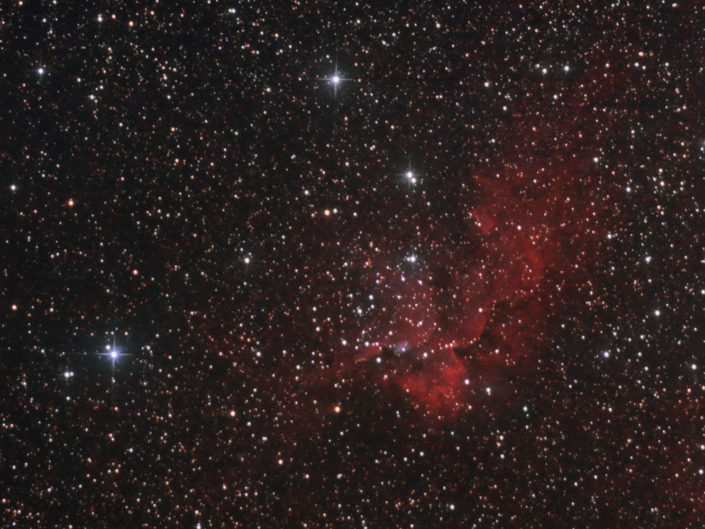 NGC 7380 - Open Cluster in the Wizard Nebula, France, Banon, 2010